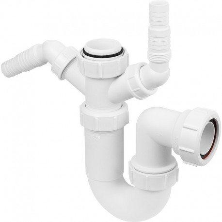MCAPLINE WM11 SINK TRAP WITH TWIN 135` NOZZLES